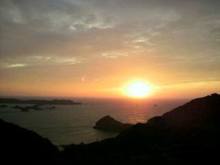 父島の夕陽